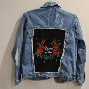 Forever 21 oversizied Jean Jacket